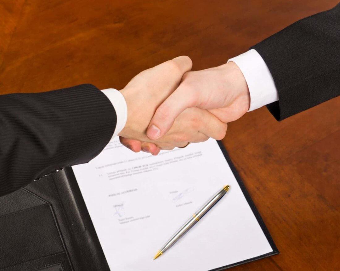 Подписание трудового договора с генеральным директором