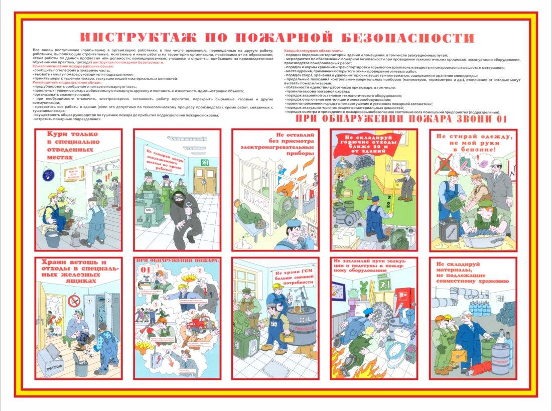 Кто проводит внеплановый инструктаж по пожарной безопасности